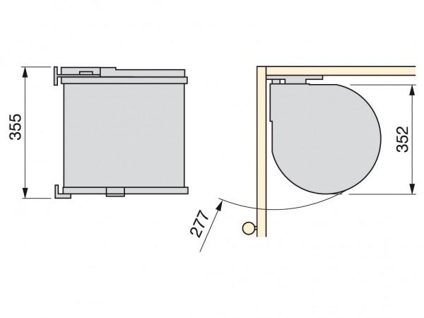 aufraumen kehrichteimer einziehbar. Black Bedroom Furniture Sets. Home Design Ideas