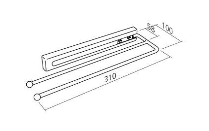 aufraumen handtuchhalter 2 arme. Black Bedroom Furniture Sets. Home Design Ideas