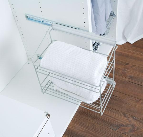 aufraumen korb zum ausziehen zweistufig. Black Bedroom Furniture Sets. Home Design Ideas